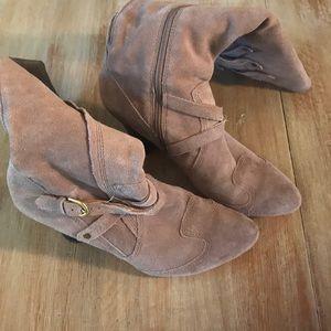 Corso Como Tall Suede Zip Boots